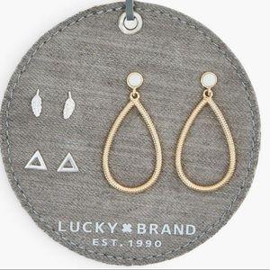 NWT Lucky Brand 🍀 3 piece earring set